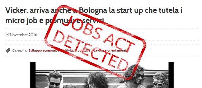 Vicker o son desto? Ovvero l'apologia del lavoro precario 2.0 sul sito del Comune di Bologna
