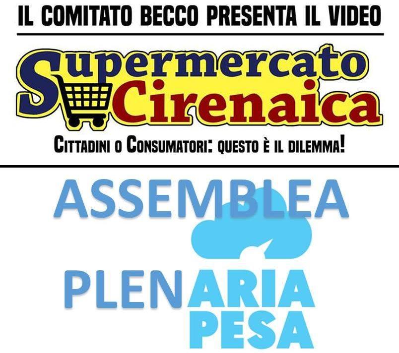 Due appuntamenti in città: alle 19 per il video del comitato BECCO in Cirenaica e alle 20.30 per AriaPesa