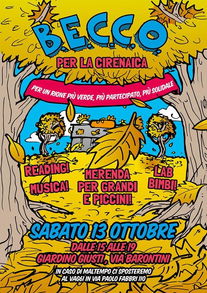 Sabato 13 ottobre festa in Cirenaica con il Comitato BECCO!