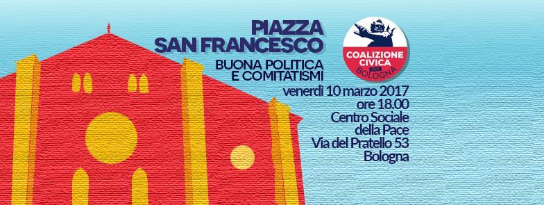 In Piazza San Francesco il nostro impegno per la partecipazione, la trasparenza evitando di fomentare il tutti contro tutti tra cittadini