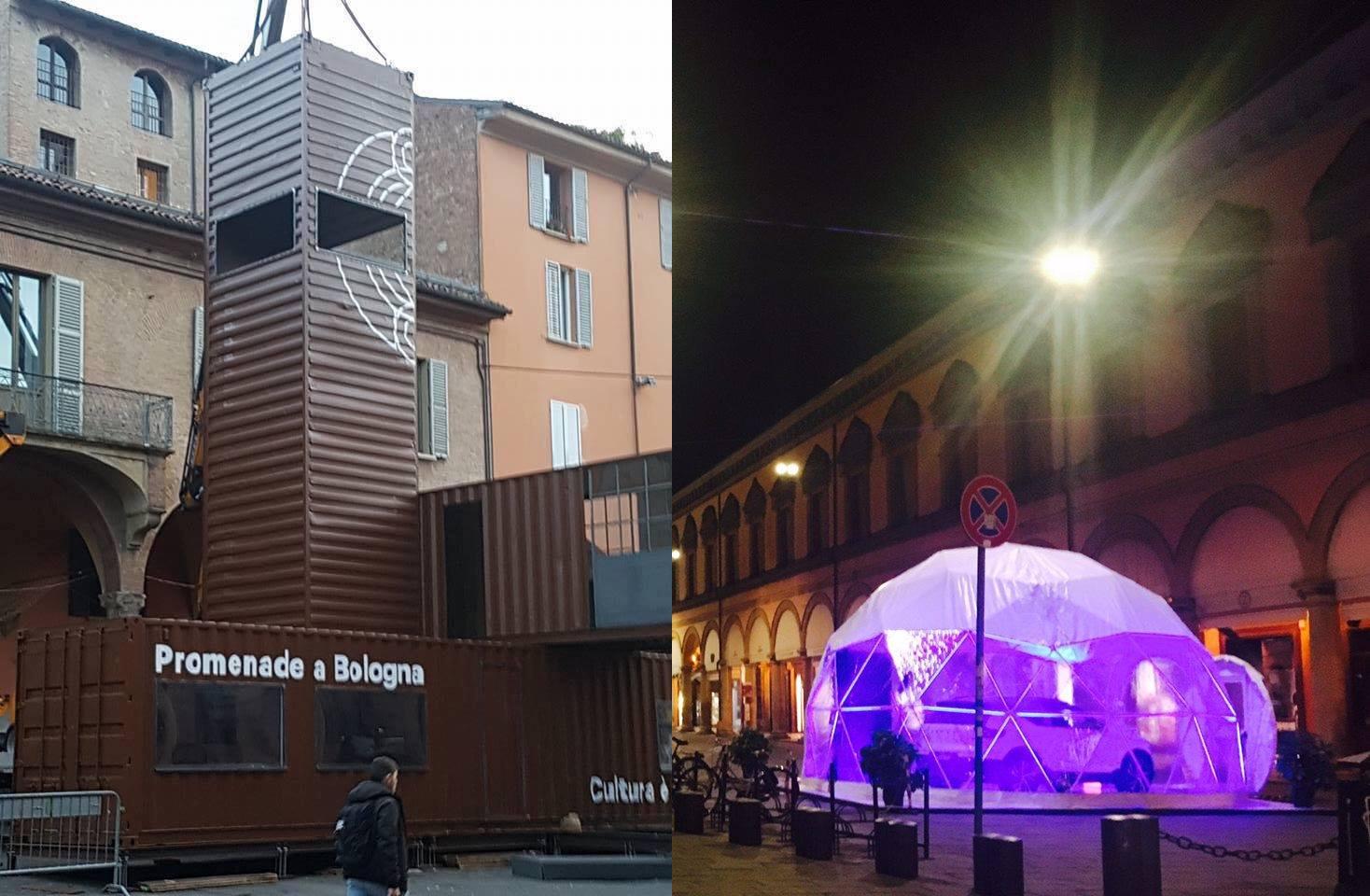 Paesaggi e miraggi in piazza Verdi e piazza Galvani. E intanto L'Altro Spazio colleziona multe