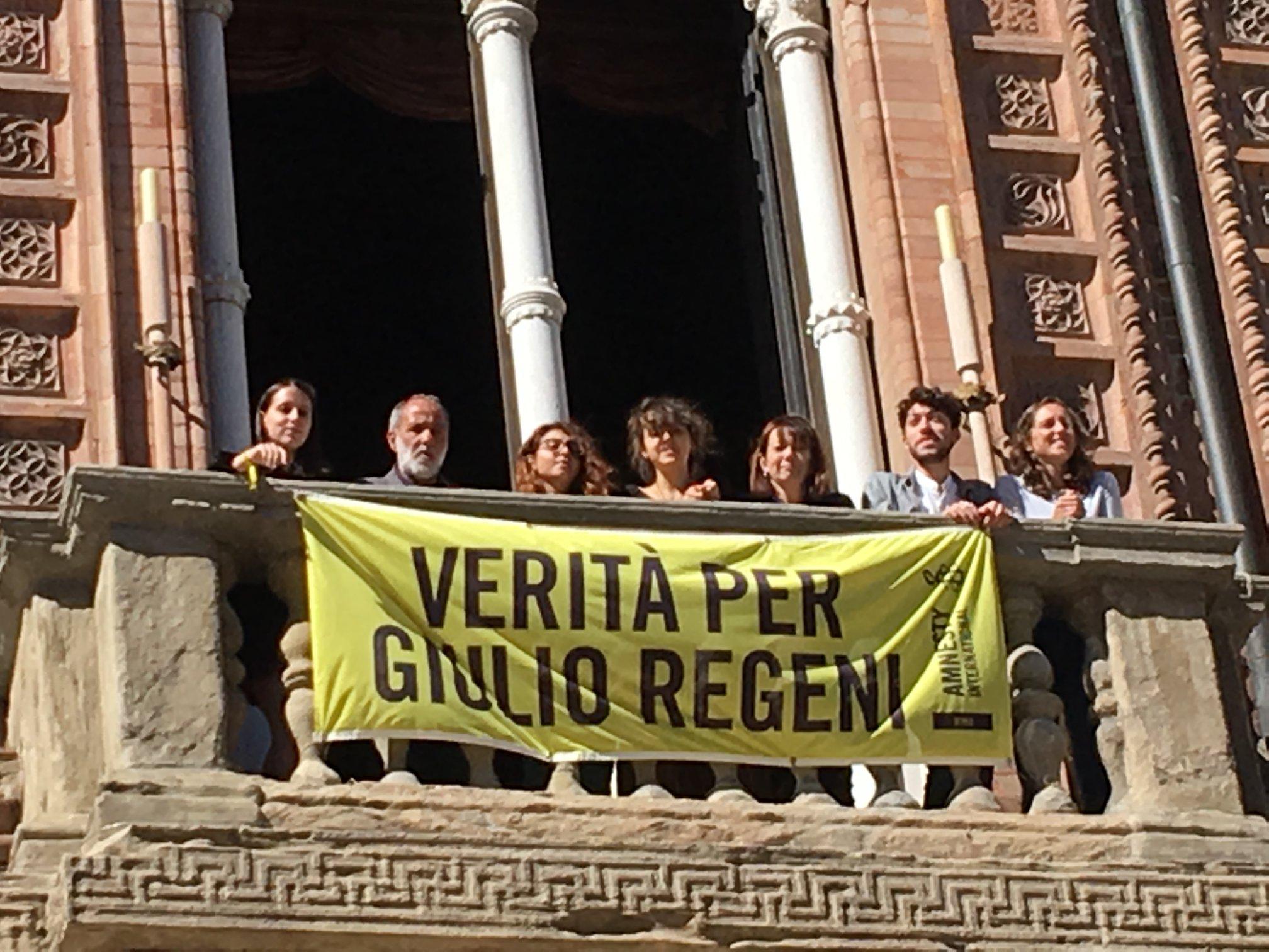 Verità per Giulio Regeni: finalmente lo striscione in comune come chiesto da Coalizione Civica