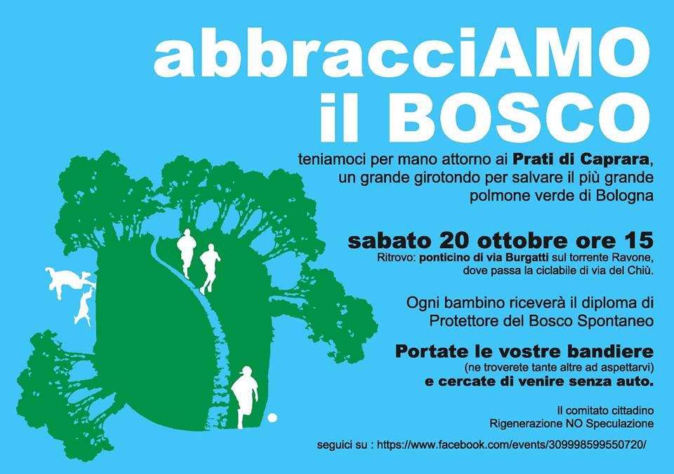 Sabato 20 ottobre abbracciamo il bosco urbano dei Prati di Caprara