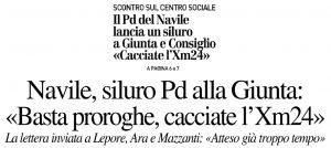 Siluro PD - Il Resto del Carlino - 25 ottobre 2018