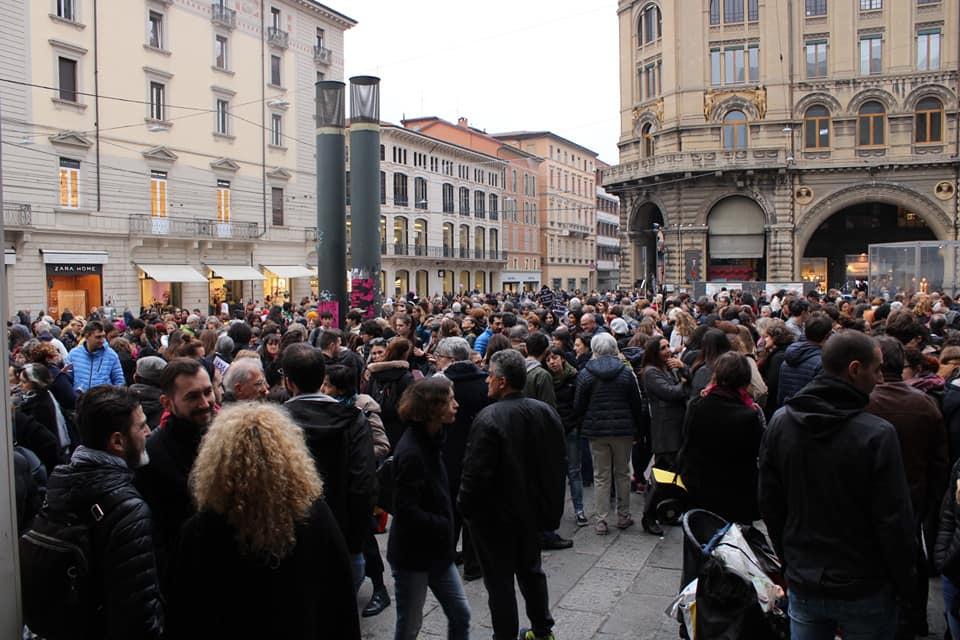 In piazza a Bologna contro il ddl Pillon