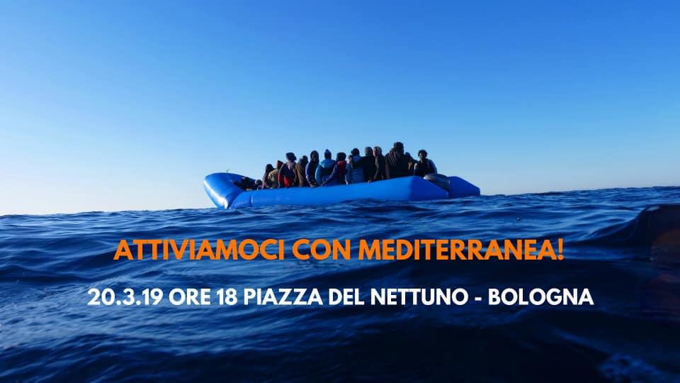 In piazza per dire: Bologna con Mediterranea e sui Balconi Salvagente