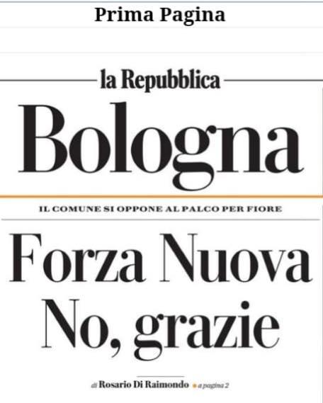 Siamo tutte e tutti antifasciste e antifascisti! Bologna respinge Forza Nuova