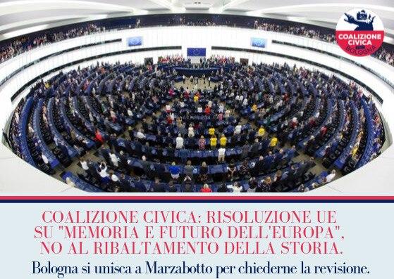 """Risoluzione UE su """"memoria e futuro dell'Europa"""", no al ribaltamento della Storia"""