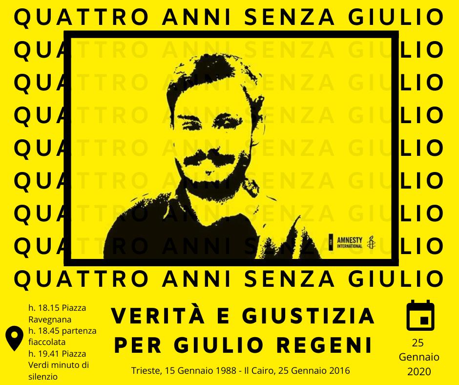 4 anni senza Giulio – Verità e Giustizia per Giulio Regeni