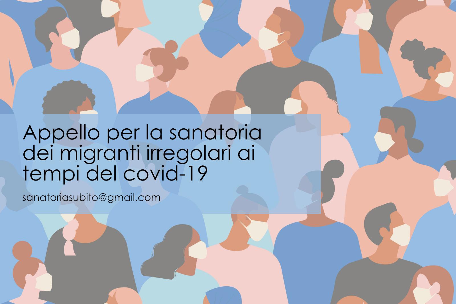 Appello per la sanatoria dei migranti irregolari ai tempi del Covid-19