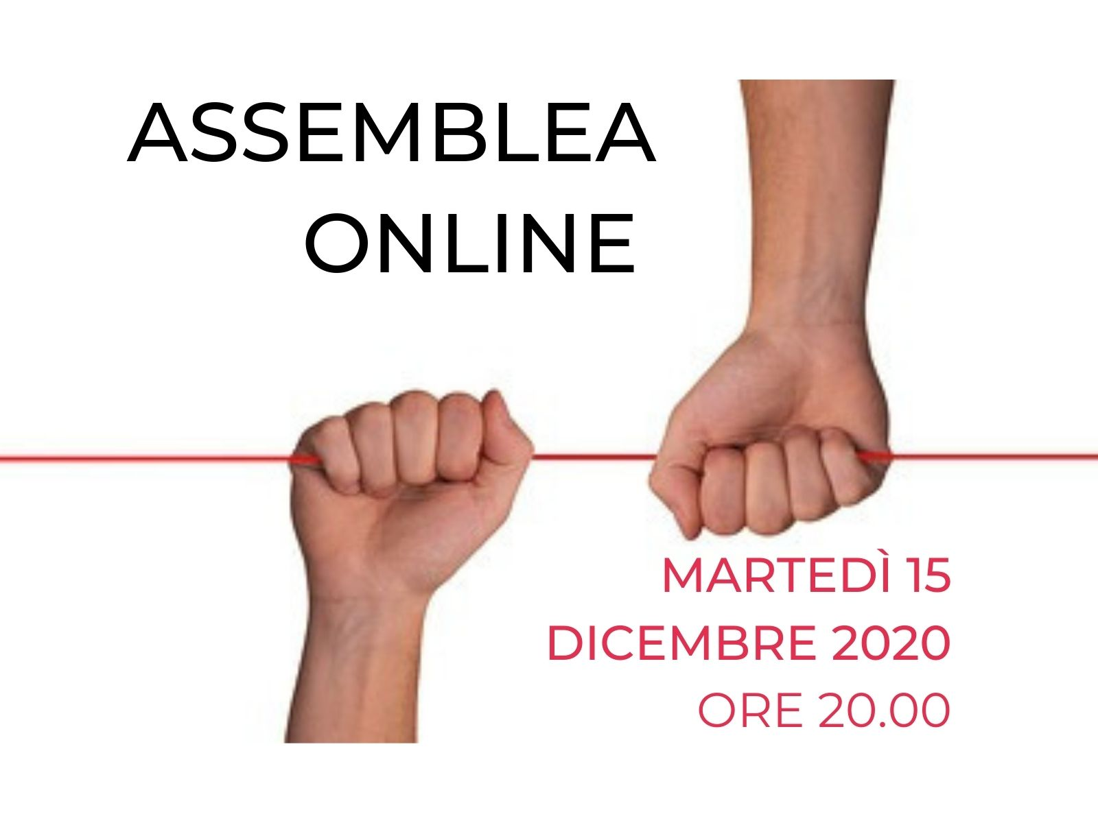Verbale dell'assemblea del 15 dicembre 2020