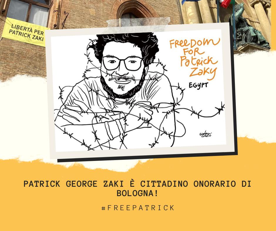 Patrick Zaki cittadino onorario di Bologna