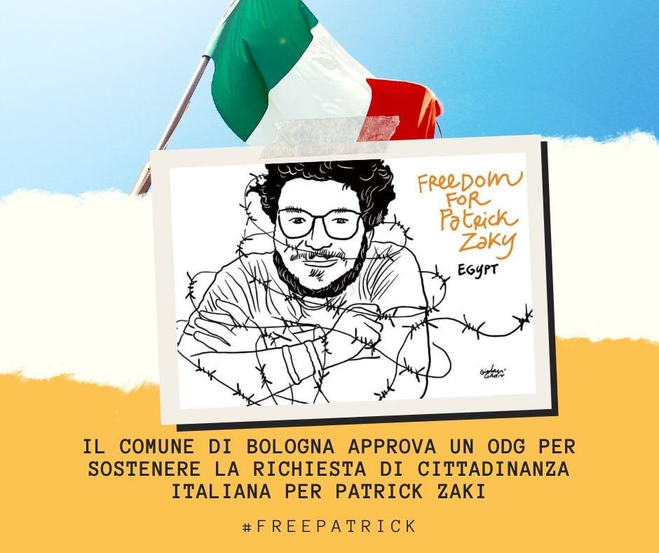 Approvato l'ordine del giorno che chiede la cittadinanza italiana per Patrick Zaki