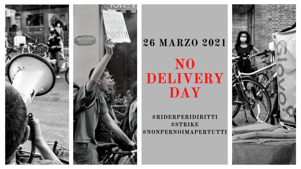 Sosteniamo il NO DELIVERY DAY