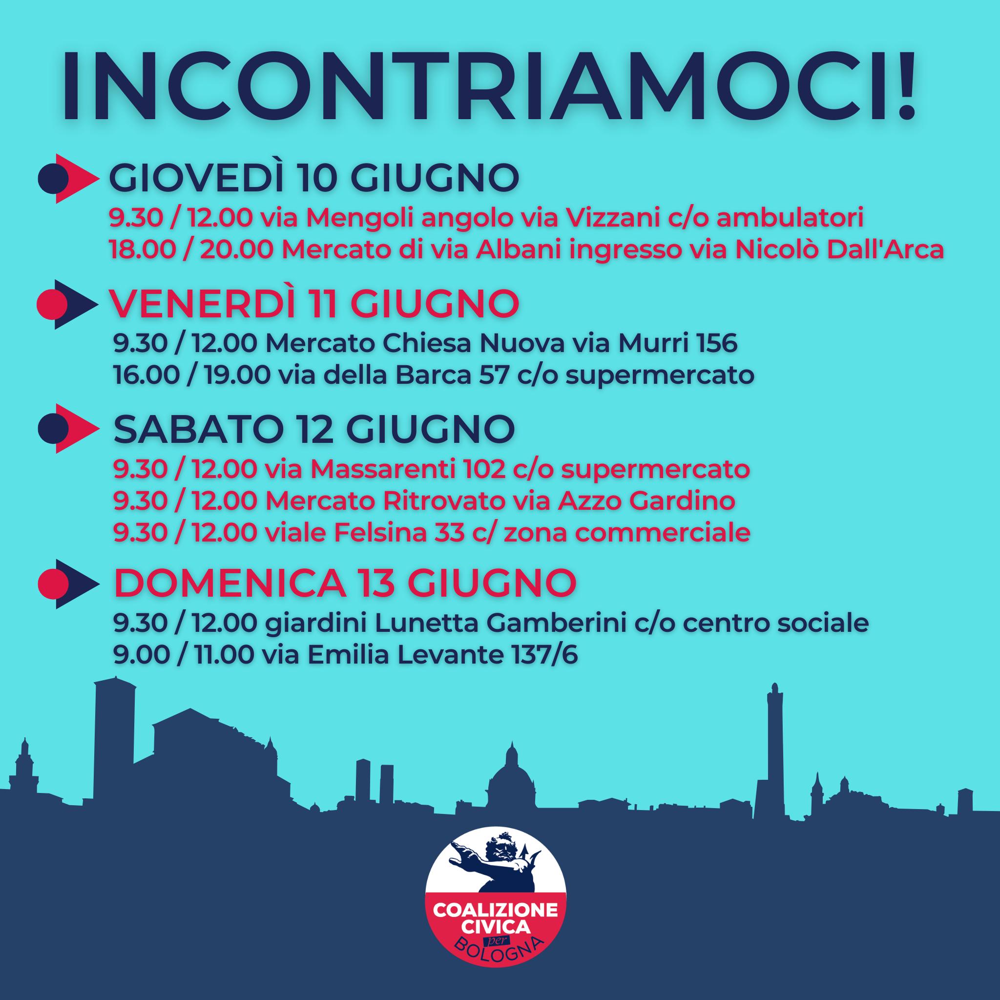 I banchetti in città per illustrare le nostre idee primarie per Bologna