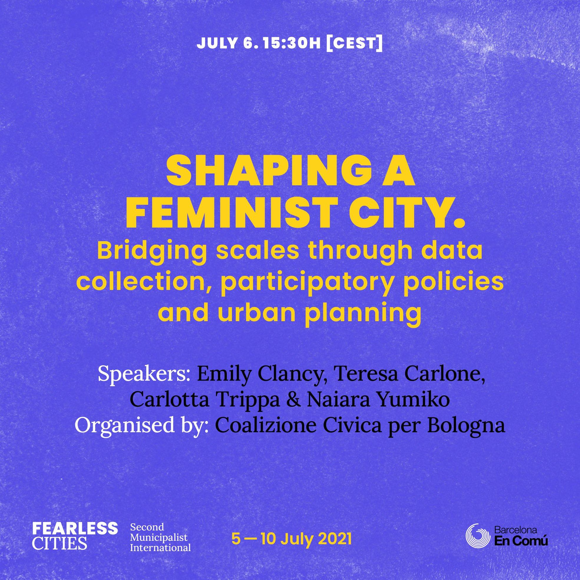 6 Luglio: progettare una città femminista