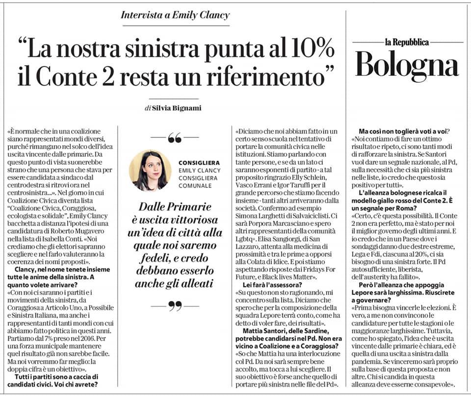 """Nasce la lista """"Coalizione Civica, Coraggiosa, Ecologista e Solidale"""""""