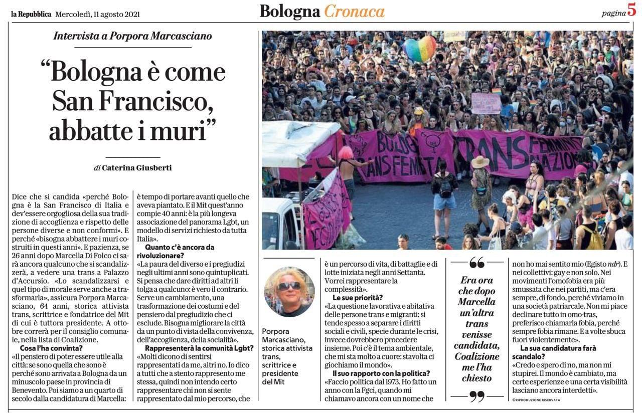 Bologna San Francisco d'Italia con Porpora Marcasciano