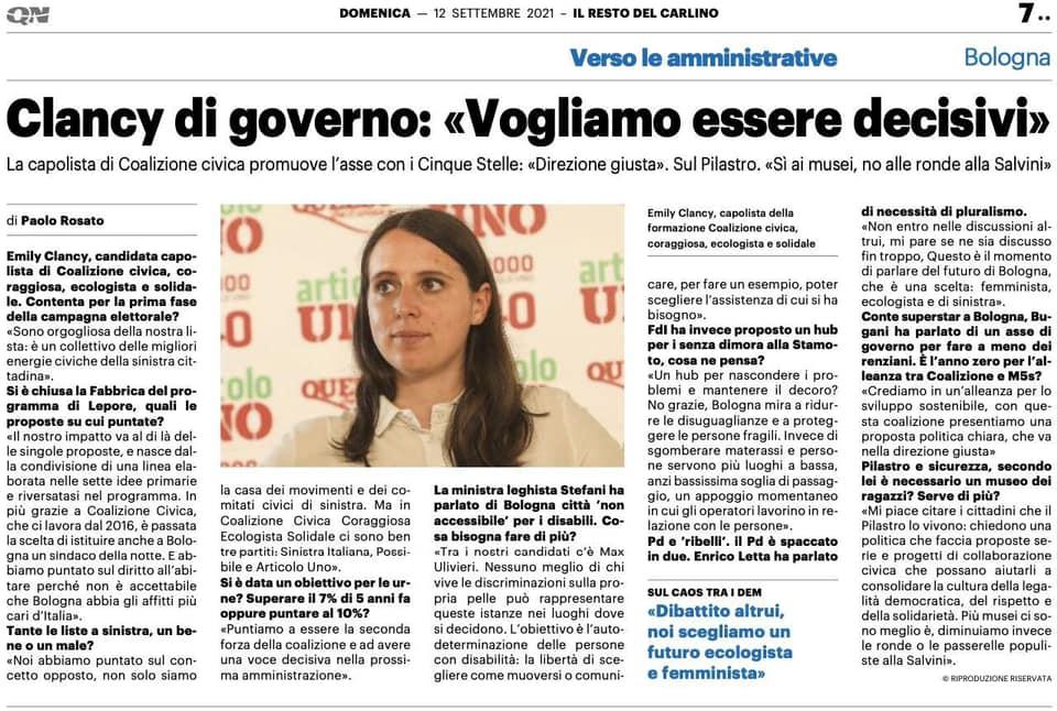 Un futuro ecologista e femminista per Bologna. Intervista a Emily Clancy