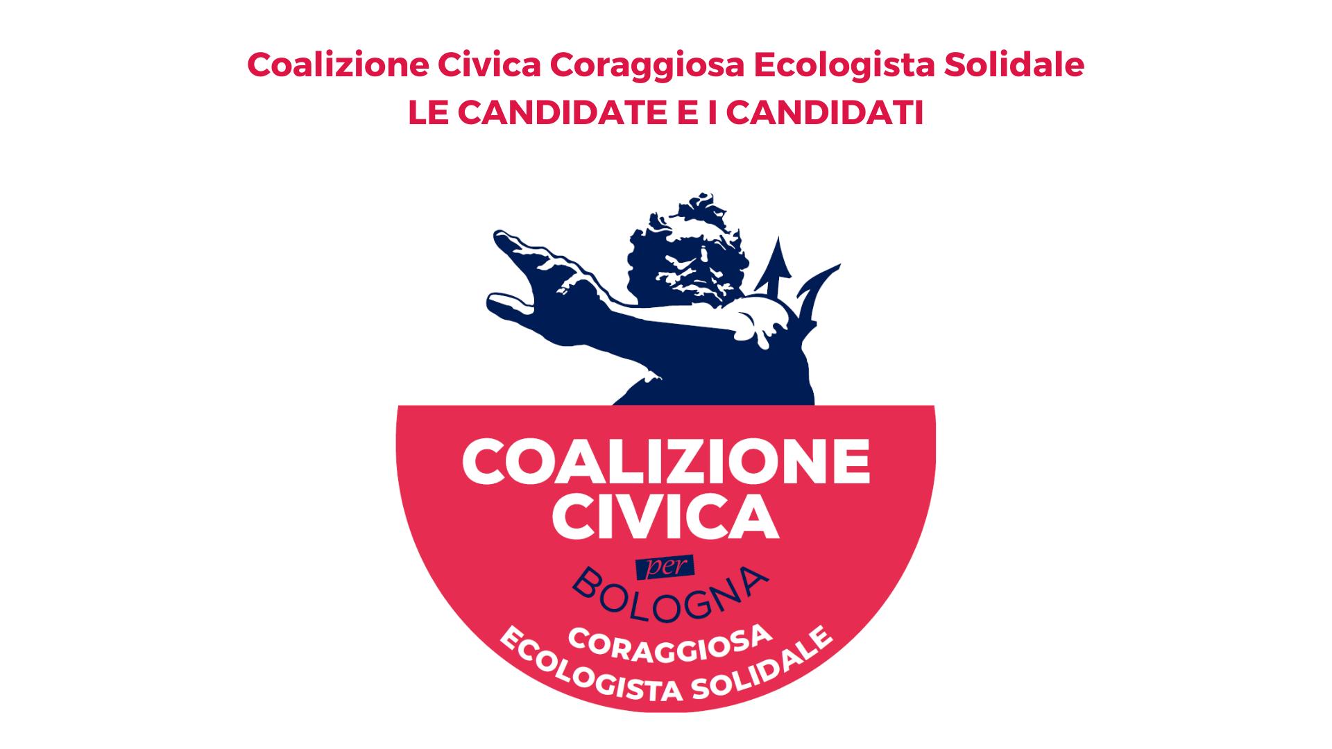 Coalizione Civica Coraggiosa Ecologista Solidale: le candidate e i candidati per il Consiglio Comunale e i Consigli di Quartiere